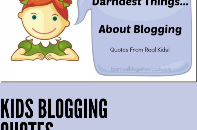 A cartoon of a girl talking about blogging.
