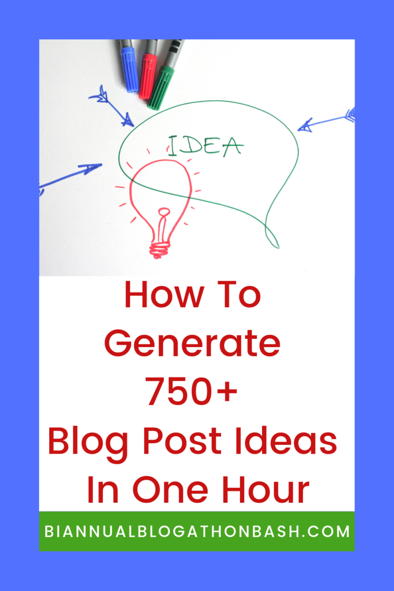 How to Generate 750+ Blog Post Ideas in One Hour - Building
