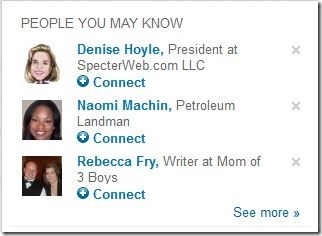 People you may know on LinkedIn.