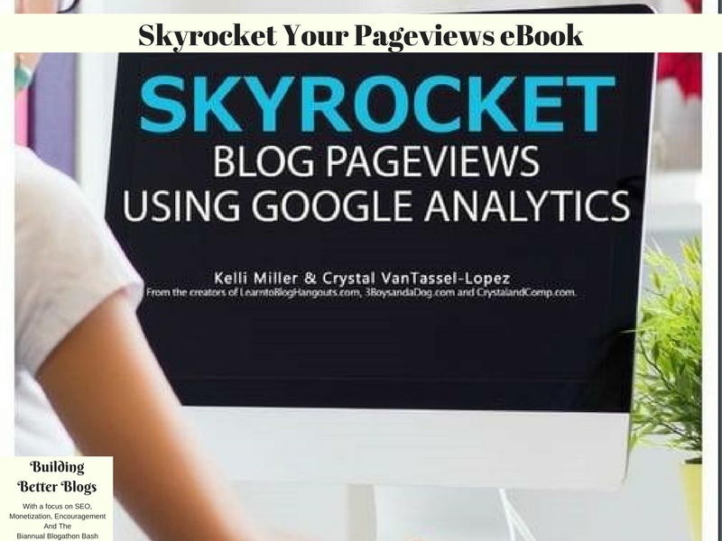 Skyrocket Your Pageviews eBook advertisement.