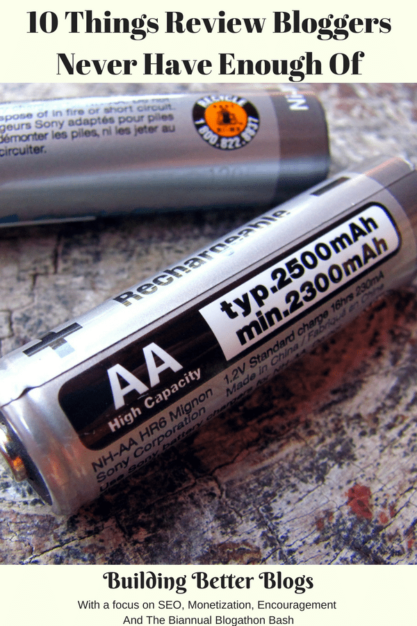 Rechargeable batteries laying on a countertop.